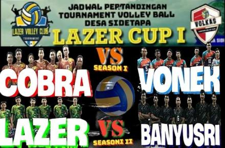 Tim Cobra Lolos Semifinal Volly Ball Lazer Cup I