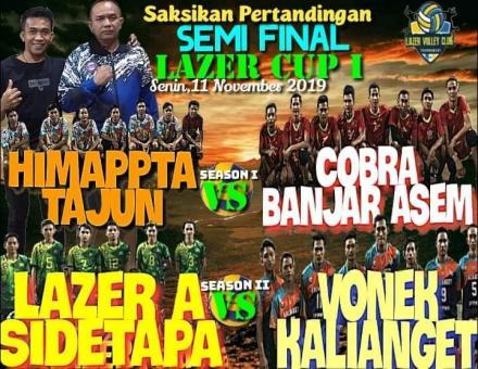 Tim Bola Voli Cobra Pada Babak Semi Final Lazer Cup I Bertanding Menghadapi Himappta Tajun