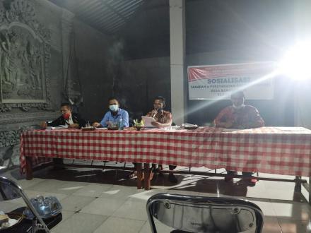 Sosialisasi Tahapan Dan Persyaratan Calon Perbekel Desa Banjarasem Tahun 2021