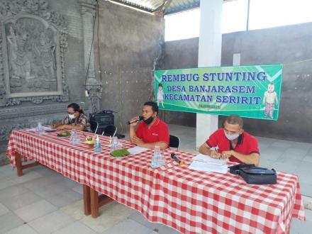 Rembug Stunting Desa Banjarasem tahun 2021