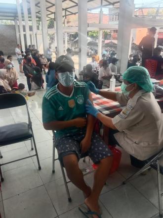 Sebanyak 482 Warga Desa Mendapatkan Dosis Vaksin Tahap 1 Hari ke-2